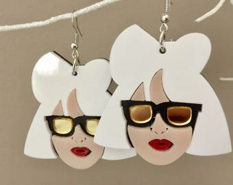 Lady Gaga Acrylic Earrings