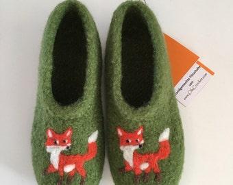 """Children felt shoes """"Fox"""""""
