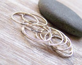 Four Sterling SIlver Hammered Ring Stacks