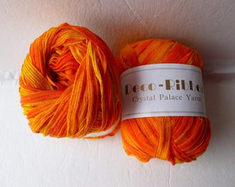 Sale Creamsicle 9234 Deco-Ribbon by Crystal Palace Yarns