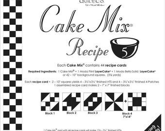 PATTERN: Cake Mix Recipe #5 - CM5 - Miss Rosie/Carrie Nelson - Foundation Piecing - Paper Piecing - Layer Cake