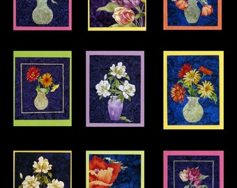 Flower Quilt Note Cards (Set of 10)