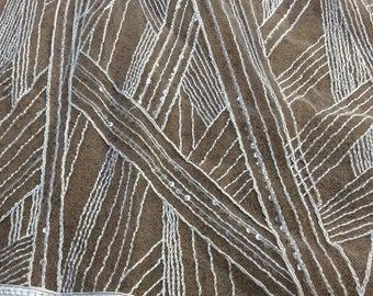 Lace Fabric, Light Ivory Bridal Beaded Lace, Bridal fabric