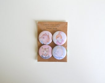 Woodland Ladies Button/Badge/Brooch/Pin Pack