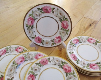 1969 Royal Worcester Royal Garden Dessert bread plates Set of 4. Two sets of 4 available.Very good  Antique Fine China China Galore