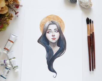"Art print ""Anomalistic I"" watercolor painting / illustration"