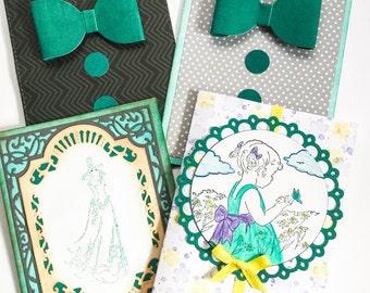 Wedding set - Bridesmaid cards - Groomsman cards - Flower girl card - ring bearer - wedding dress cards - wedding gown - cute flower girl