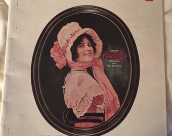 1973 Coke Magazine Refresher USA Coca Cola Employee Publication w 1914 Betty Girl Tray on the Front