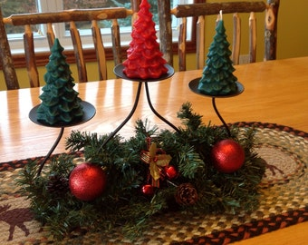 3 Christmas tree candles 100% beeswax