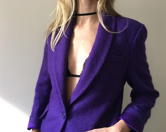 Vintage Purple Wool Blazer