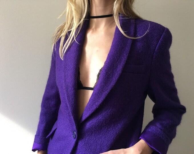 Vintage Purple Wool Blazer