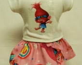 "Trolls ""Princess Poppy"" Theme Outfit  For 18 Inch Doll Like The American Girl"