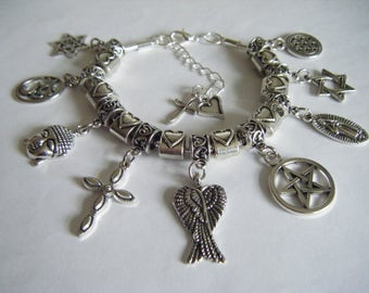 SUPERNATURAL Mary Winchester Protection Charm Bracelet Demon Hunters Dean Sam Cas Family Business Saving People Angels