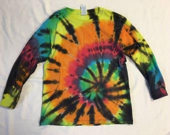 Funky Tie Dye Youth Longsleeve size Medium K161
