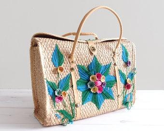 Vintage Straw Bag Handbag Purse Mexico Souvenir