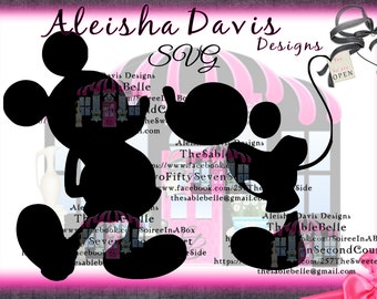 Mickey Mouse SVG Dapper Mickey/ Kissing Mickey