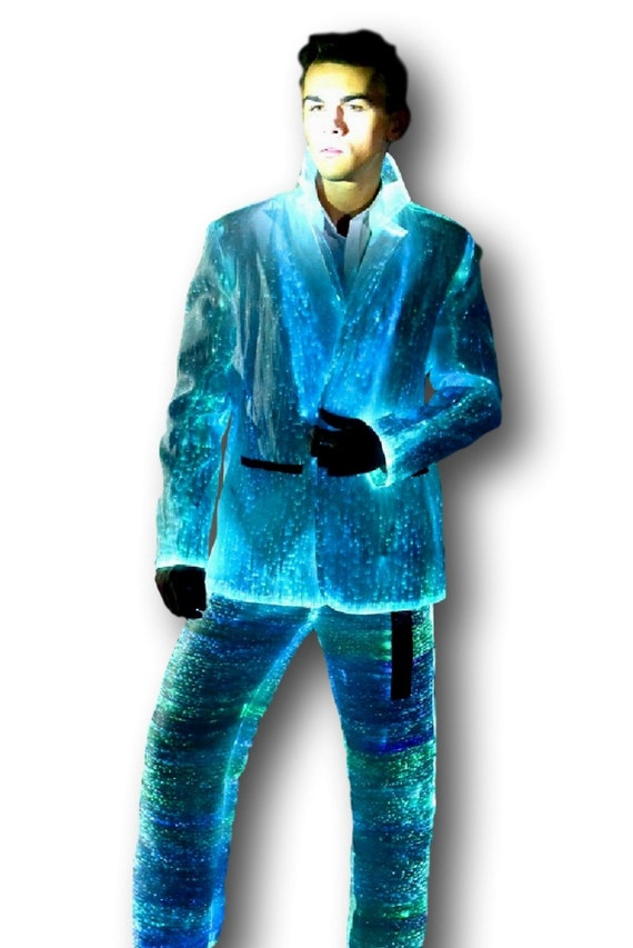 Fiber optic light up men s suit christmas gift idea by