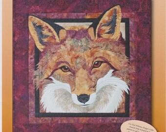 "Red Fox Quilt Pattern, Toni Whitney Design, DIY Appliqué Quilting, 22"" x 22.5"""