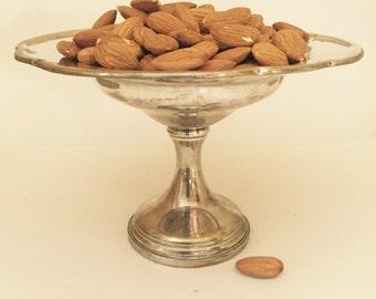 Vintage Sterling Silver Compote Pedestal Nut Candy Dish Fisher Sterling