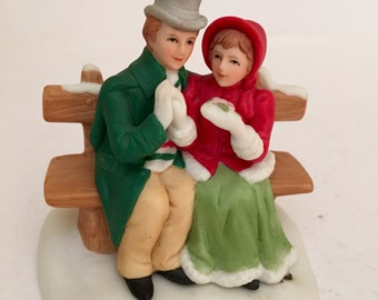 Geo Z Lefton China Mr and Mrs Anderson Couple On Bench 1991 00221