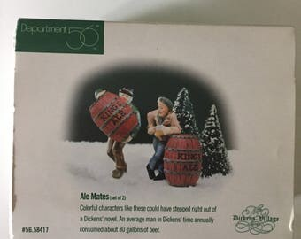 Ale Mates Department 56 Dickens Village Set of 2 Accessory