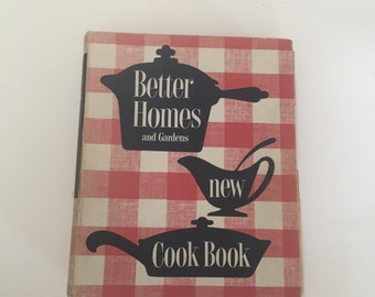 Better Homes NEW COOKBOOK / Vintage Better Homes and Gardens New Cookbook Classic Binder Red & White 1960's