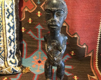 BAULE AFRICAN FIGURE, from the Ivory Coast, a Striking Vintage Piece