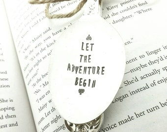Spoon Bookmark, Let the Adventure Begin, Spoon Bookmark, Gift for Reader, Book Lover Gift, Gift for Avid Reader