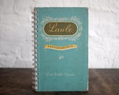 """DOTTED Spiral Bound Notebook Tartuensis College """"Songbook"""". Handmade from Discarded Book Covers"""