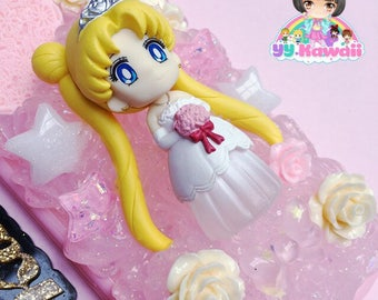 Custom Sailor Moon Wedding Kawaii Decoden Whipped cream style phone case for iPhone 4/4s 5 Samsung galaxy and more
