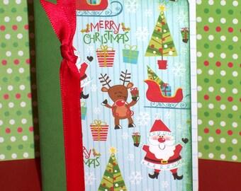Santa Mini Composition Book (GREEN)