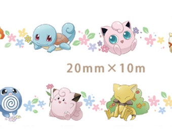 1 Roll Limited Edition Washi Tape: Pokemon Pokemonsters