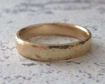 Recycled 9ct Yellow Gold Wedding Band - Eco Gold - Recycled Gold - Eco Gold Wedding Band - 9ct Yellow Gold Wedding Band - 4mm