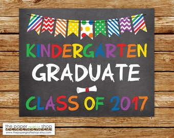 Kindergarten Graduation Sign | Chalkboard Sign | Graduation School Sign | DIY School Sign | Kindergarten | Graduation Photo Prop