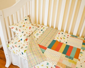Organic Crib Bedding Set, Organic Baby Bedding Set, Organic Toddler Bedding Set, Farm Fresh, Farm Animals