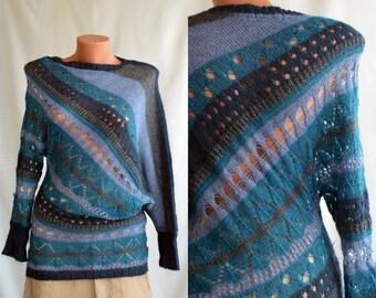 Vintage ARTSY Sweater,  size M / 38-40 /