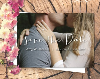 Personalised Save the Date / Engagement Announcement Photographic Card