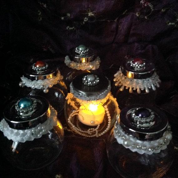 6 JARS, Glass Jars, Table Decor, Wedding  Table, Celebration Table, Home Decor, Hostess Gift,
