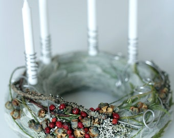 Advent Wreath - Christmas Wreath - Candle ring - Centrepiece