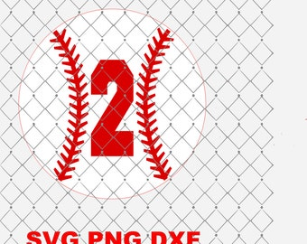 Number 2 Baseball Birthday Svg Png Dxf Cutting File Instant Download Birthday Svg Png Dxf Sports Theme Birthday Svg Png Dxf