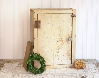 Vintage Wooden Cabinet, Farmhouse Kitchen Cabinet, Bathroom Medicine Cabinet, Rustic Farmhouse Cabinet, Rustic Bathroom Storage, Fixer Upper