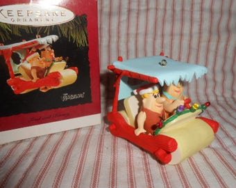 Hallmark Keepsake Ornament-The Flintstones-Fred and Barney-1994