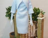 "Melania Trump's Blue Ralph Lauren Outfit for 12"" doll OOAK"