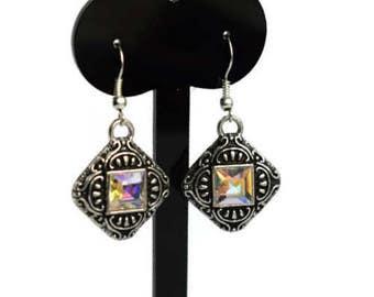 Vintage Crystal Earrings - Wedding Jewellery - Bridal Earrings - Small Drop Earrings - Vintage Style - Prom Jewellery - Anniversary Gift