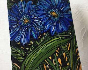 Blue Geberas original painting