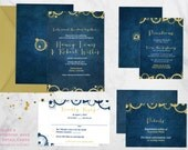 Space and Time Wedding Invitation Suite