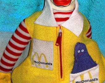 From 1978! Ronald McDonald 21' Plush Doll W/O Whistle.