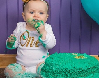 First Birthday/Mint Gold Outfit/CakeSmash/2nd Birthday/Take Home outfit/Mint LegWarmer/Gold Mint/Under the sea/Mermaid/Baby Necklace