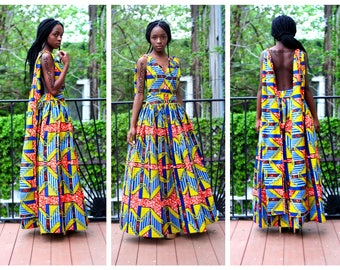 SEVEN - African Ankara Wax Print Infinity Dress - 7 Fabric Choices!