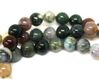 6 mm India Agate Gemstone Beads
